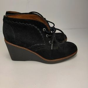 Naturalizer Kaitlyn Leather Suede Oxford Wedges